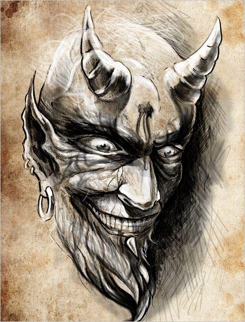 teufel malen | Redewendung: Den Teufel an die Wand malen - [GEOLINO]