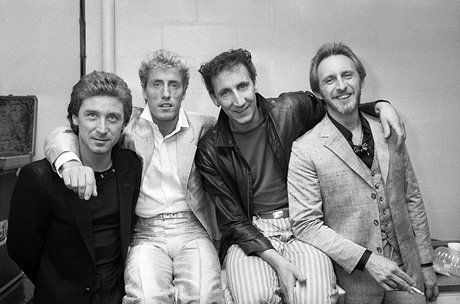 Kenney Jones, Roger Daltrey, Pete Townshend and John Entwistle of the Who in New York for a concert, October 1982.