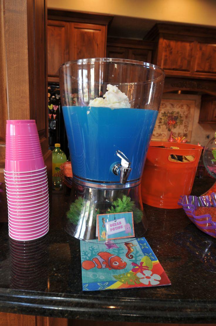 Disney finding nemo baby shower ocean potion punch for Finding nemo bathroom ideas