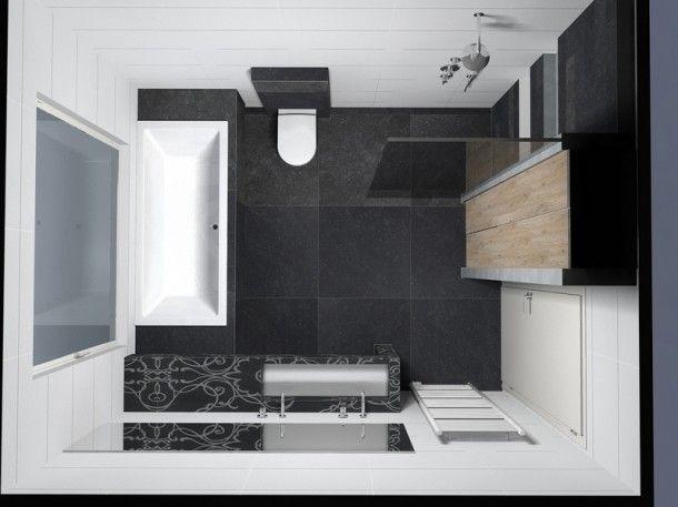 Meer dan 1000 idee n over kleine badkamer ontwerpen op pinterest kleine badkamers kleine - Deco kleine badkamer met bad ...