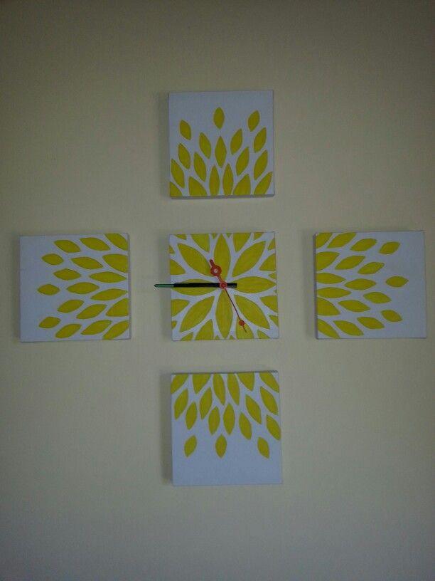 Diy Canvas clock
