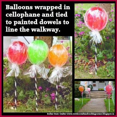 Balloon Lollipops For A Candy Land Themed Party