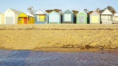 Bathing boxes, Mt Martha, Mornington Peninsula, Victoria, Australia