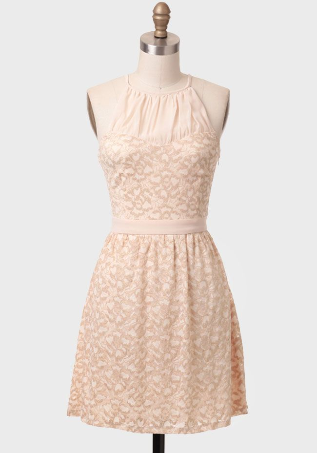 Peach Champagne Lace Dress at #Ruche @Ruche http://shopruche.com/peach-champagne-lace-dress.html