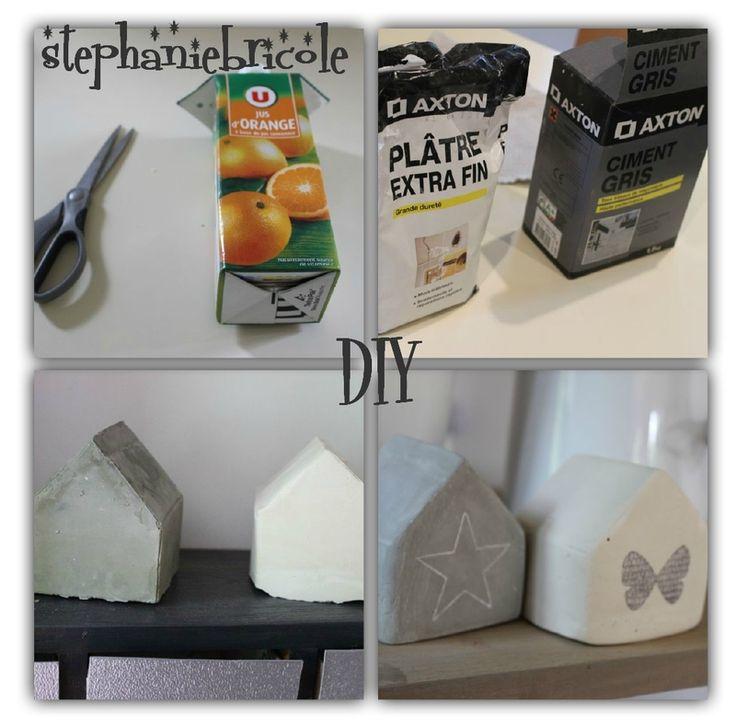 DIY déco scandinave : faire une maison en plâtre et en ciment. - Stéphanie bricole