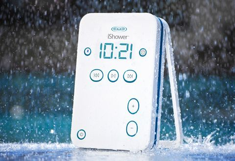 Water-Resistant Bluetooth Shower Speaker for iPhone/iPad: Bluetooth Speakers, Gifts Ideas, Waterresist Bt, Bluetooth Shower, Water Resistance, Ishow, Shower Speakers, Bt Shower, Products