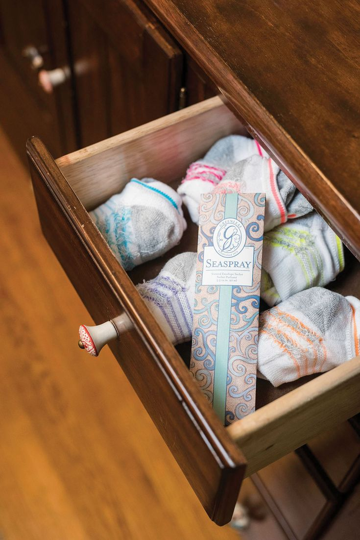 Sachet Tip: Place a sachet in a clothing drawer to keep your clothes smelling fresh!