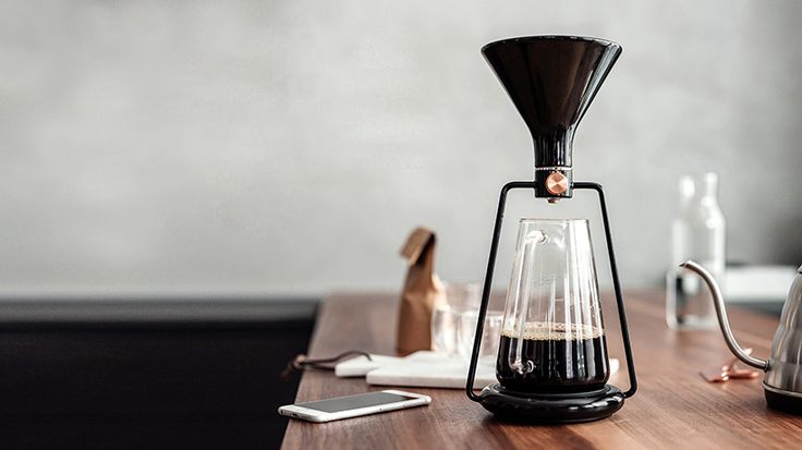 GINA's design incorporates three different methods of brewing: immersion, classic pour, and cold drip.