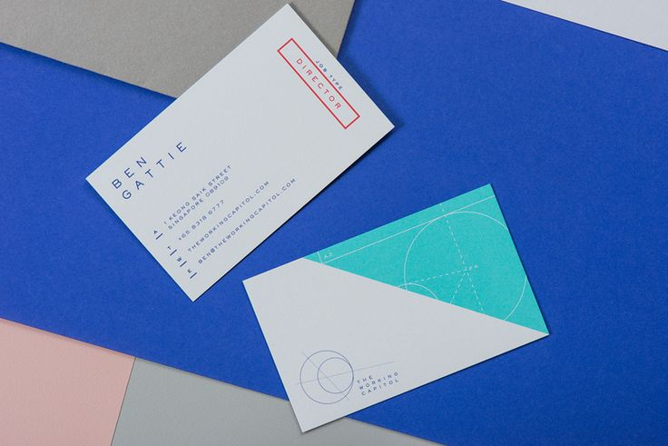 Branding and business cards for Singapore co-working space The Working Capitol by Graphic Design Studio Foreign Policy
