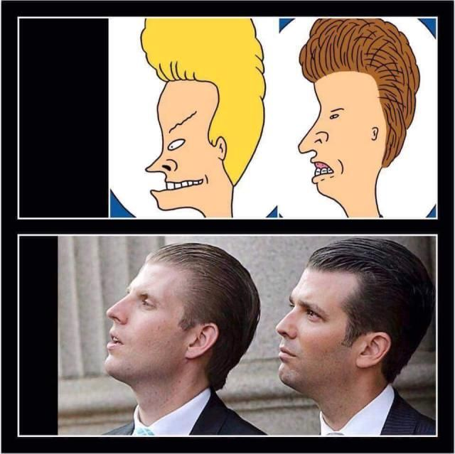 Funny Donald Trump Images to Make You Laugh and Cry: Trump Sons as Beavis and Butthead