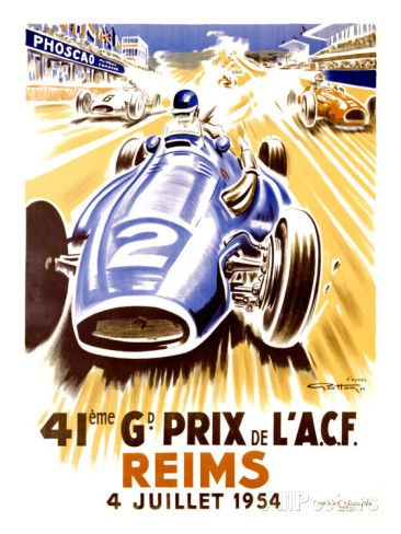 41st Grand Prix of the Automobile Club de France, Reims Giclee Print by Geo Ham - at AllPosters.com.au