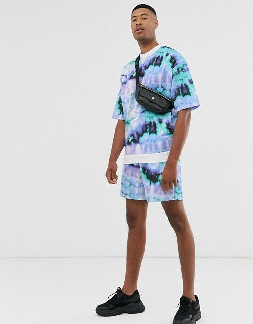 Shop the latest ASOS DESIGN Tall two-piece shorts in tie dye trends with ASOS! Urban Fashion, Mens Fashion, Fashion Outfits, Tie Die Shirts, Tie Dye Fashion, How To Tie Dye, Tie Dye Outfits, Embroidery On Clothes, Tie Dye Designs