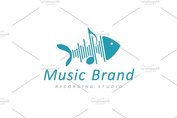 For sale. Only $29 - music, fish, bone, play, sound, wave, note, voice, noise, song, skeleton, memorable, modern, simple, creative, animal, fin, media, rhythm, harmony, blue, recording, musician, audio, swim, vibration, pulse, water, logo, design, template,
