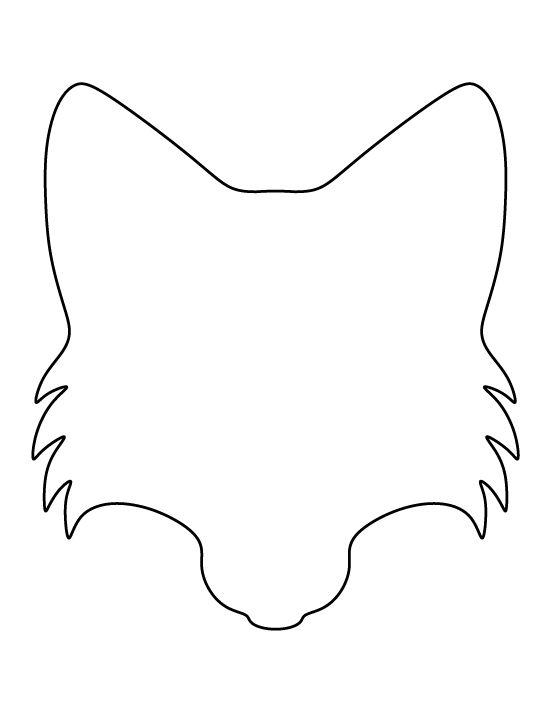 Simple fox head outline - photo#12