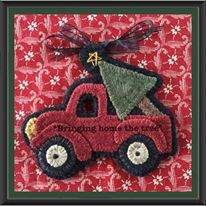 """""""bringing home the tree"""" FREE Ornament Download - Wooden Spool Designs"""