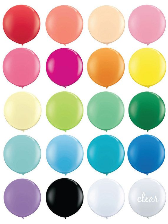 36 inch Round Balloons 36 Balloons Giant 36 by UndercvrHostess