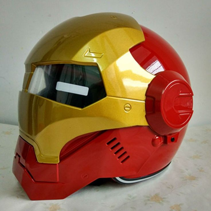 Red & Yellow IRONMAN Motorcycle/Scooter Helmet 2016