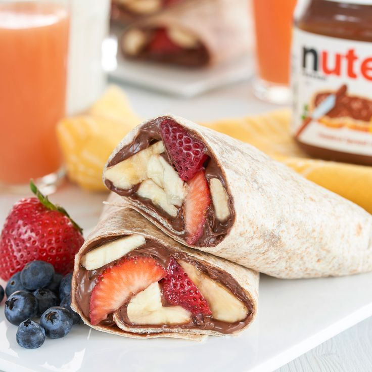 Consider this fruit burrito with Nutella® a wrap on your hunger pains.
