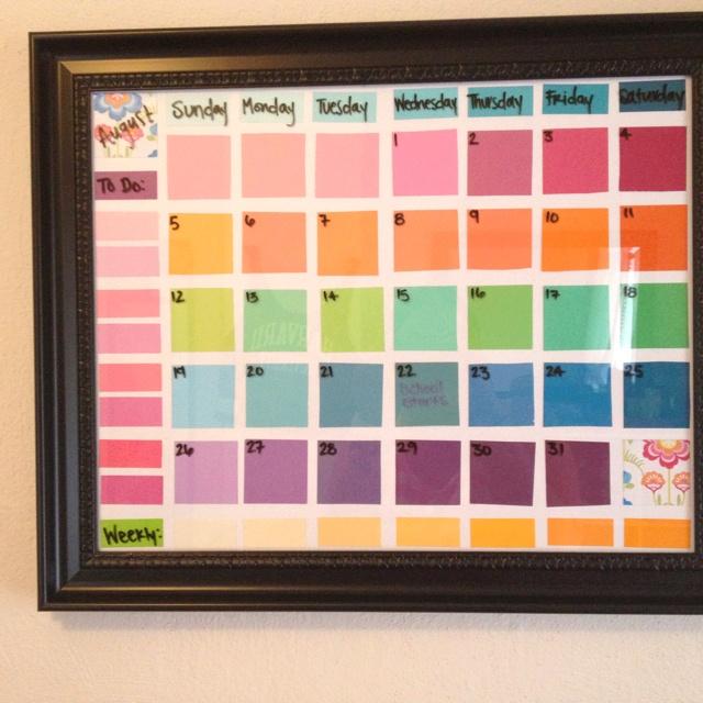 Dry Erase Calendar Canada : Best paint chip calendar ideas on pinterest