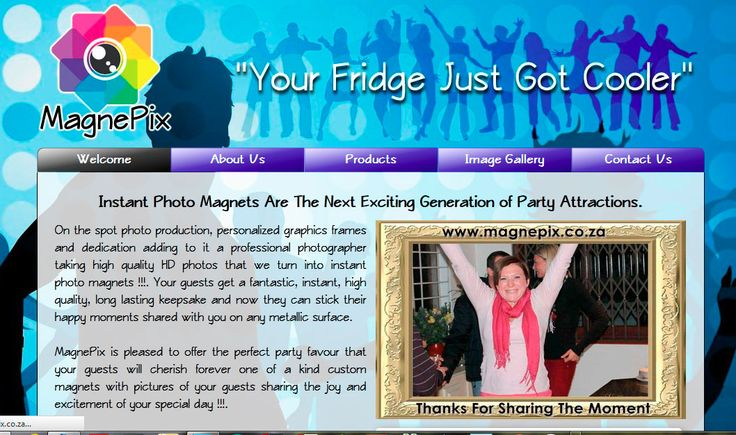 Website Design By DRAGAN GRAFIX - Magnetic Photographic Keepsakes - MagnePix Fridge Magnets, Innovative photo event keepsake magnets to make your special day unforgettable. Offer your guests instant unique party souvenirs they will rave about. http://www.magnepix.co.za