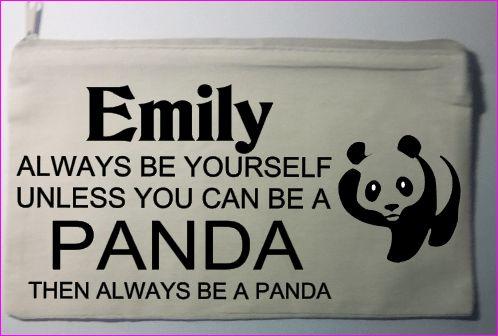 Personalised Pencil case Panda, Fairy, Elf and Unicorn