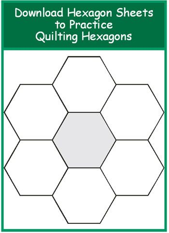Hexagon sheets of different sizes--to practice the quilting (not just the piecing)