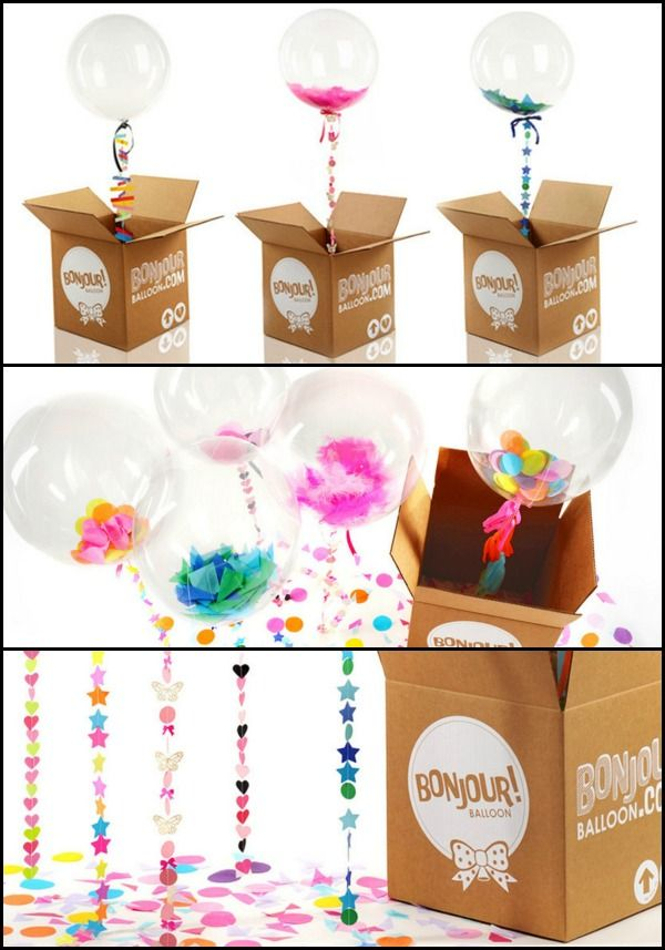 Confetti Balloons With Fancy Stringsput One In A Box Or Many Bff Birthday GiftBirthday