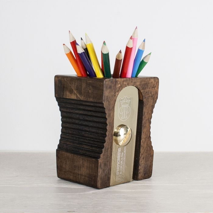 #personalised pencil sharpener pen holder