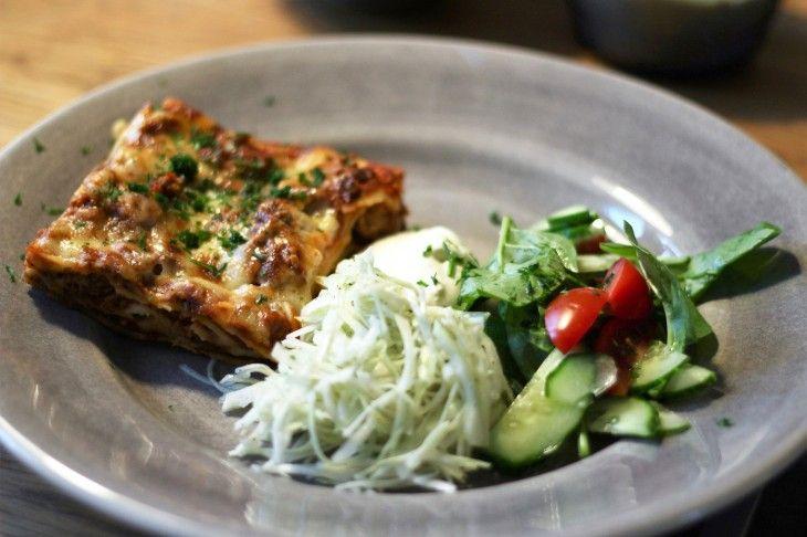 Som en klassisk lasagne, men bara nästan. Härliga, annorlunda smaker.