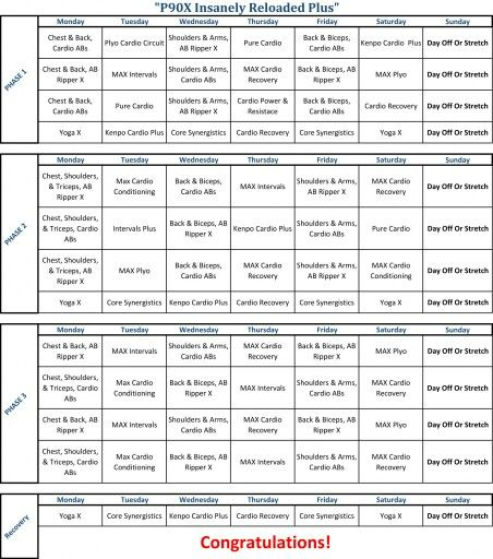Best 25+ P90x schedule ideas on Pinterest P90x workout schedule - workout program sheet