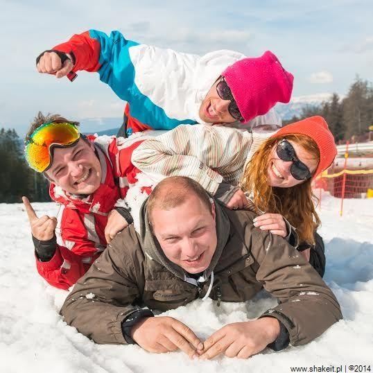 Organizatorzy w trakcie wyjazdu SHAKE IT! SNOW PARTY Val di Fiemme