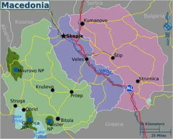 Republic of Macedonia travel guide - Wikitravel pink, not so many tourists but good rural spictacular views. green - tourist attractions, national parks, etc. purple- along the Vardar River including the capitol city