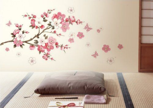 DIY Removable Sakura Flower Bedroom Vinyl Decal Art Decor Wall Sticker  45*60CM (Small