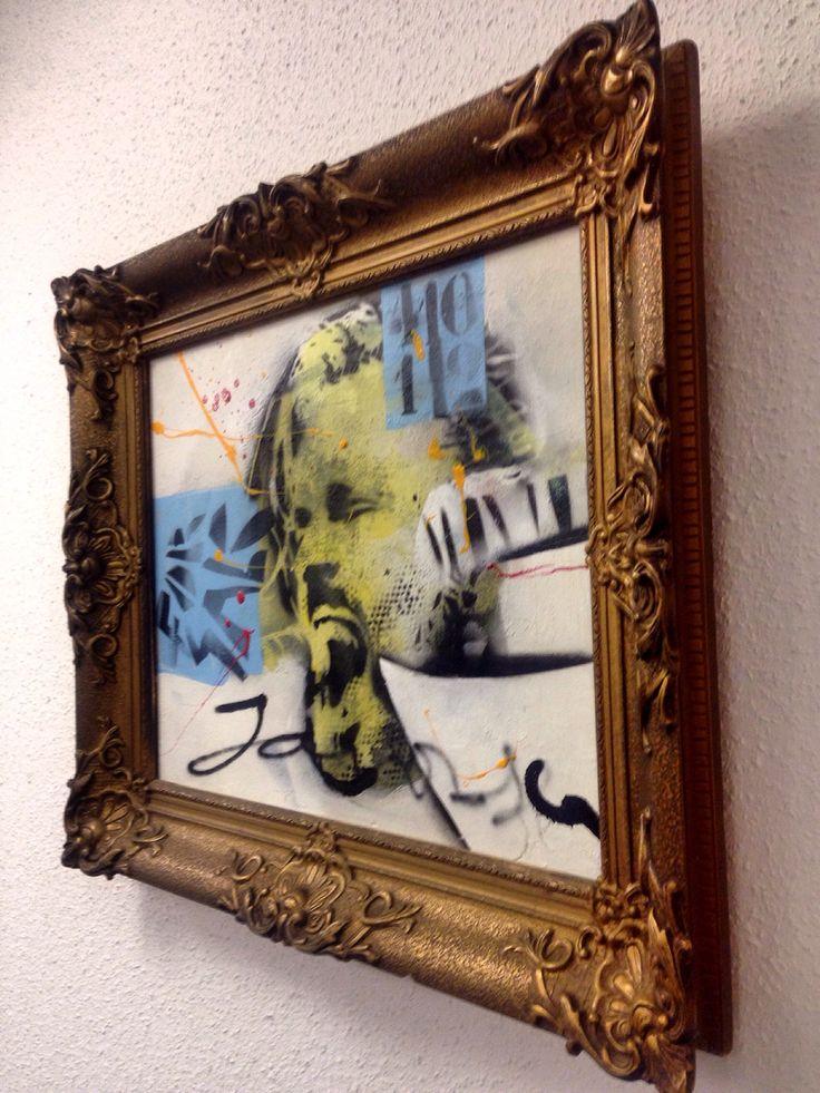 #triggerfinger #rubenblock #schilderij #kunst 40x50
