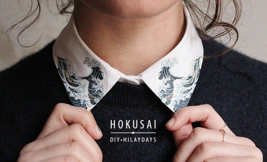 DIY / Le col arty Hokusai sur http://www.thetrendygirl.net