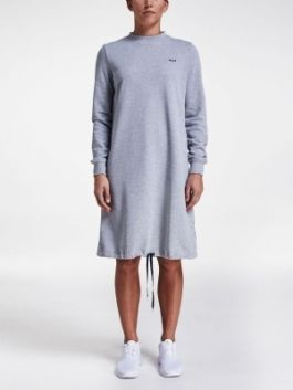Cozy Sweat Dress, GREY MELANGE