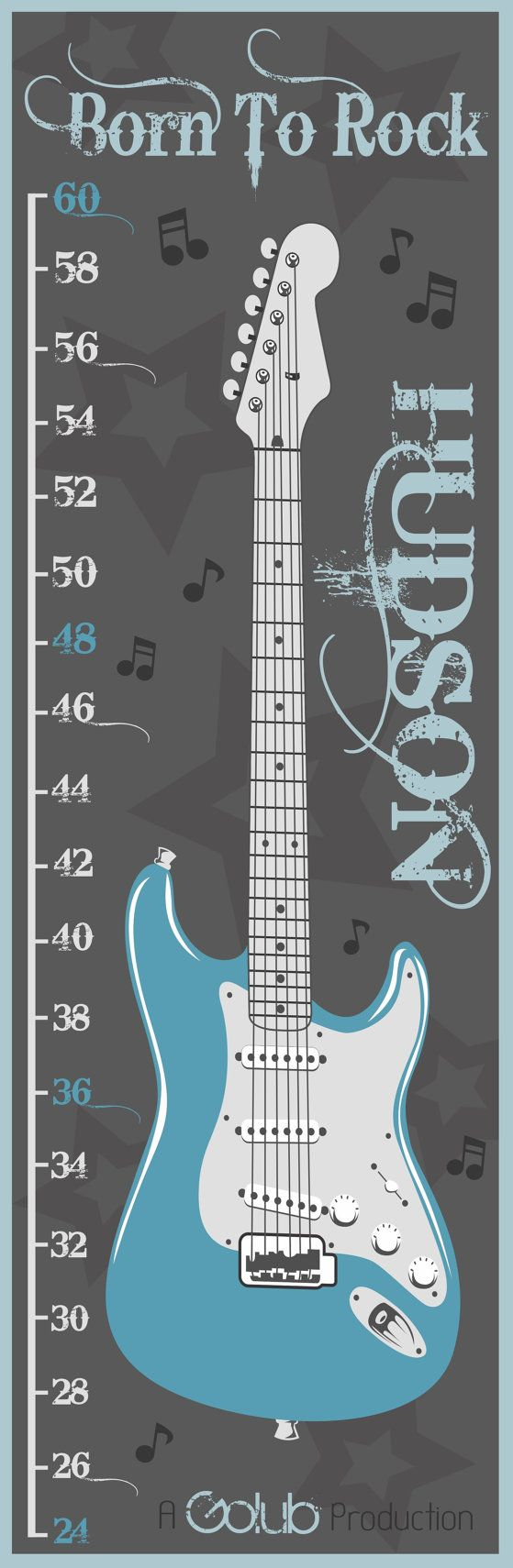 Rock and Roll Growth Chart by lisamingersoll on Etsy, $40.00