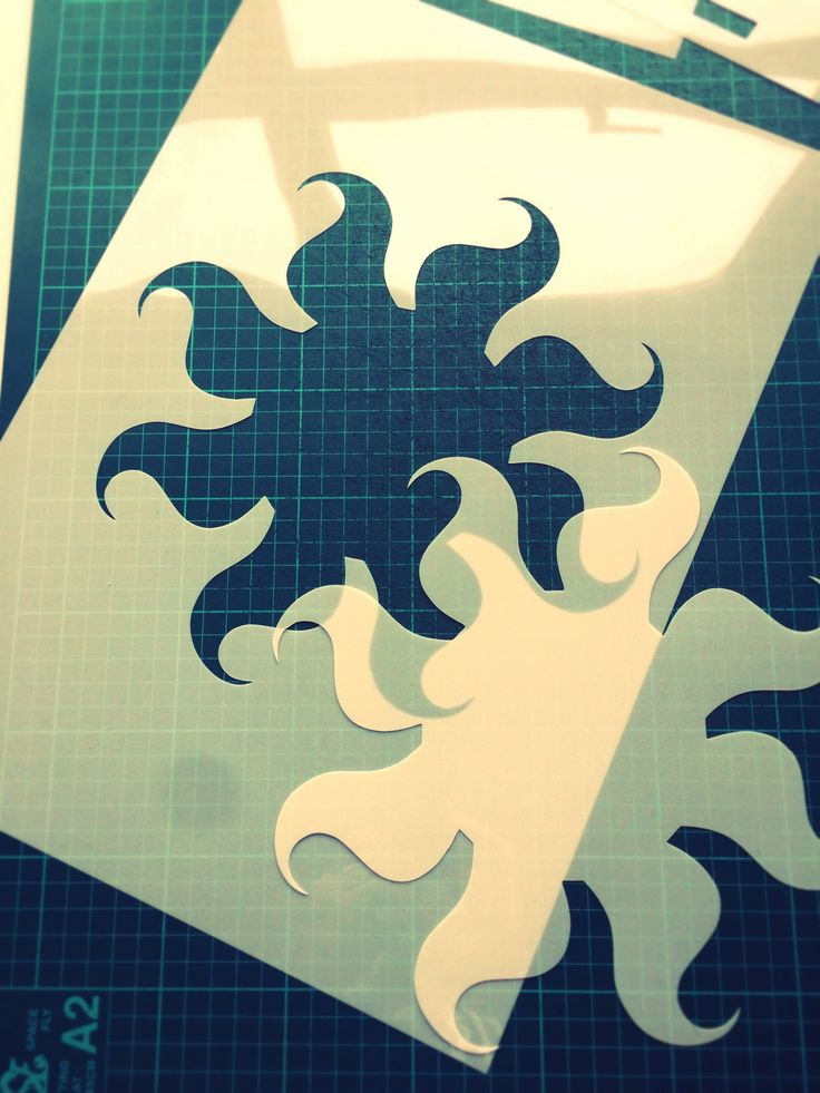 Custom stencil - Sun - www.createcuts.com