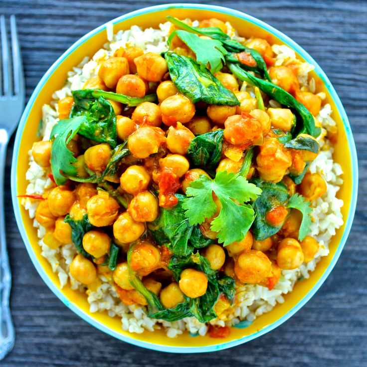 Chickpea & Spinach Curry - vegan and gluten free