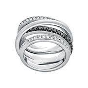 Swarovski Dynamic Ring, Grey, Rhodium plating