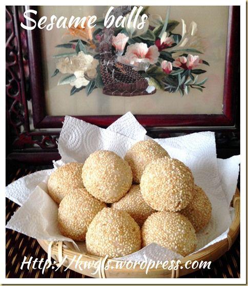 Sesame Balls or Jian Dui or Kuih Bom (煎堆,芝麻球)