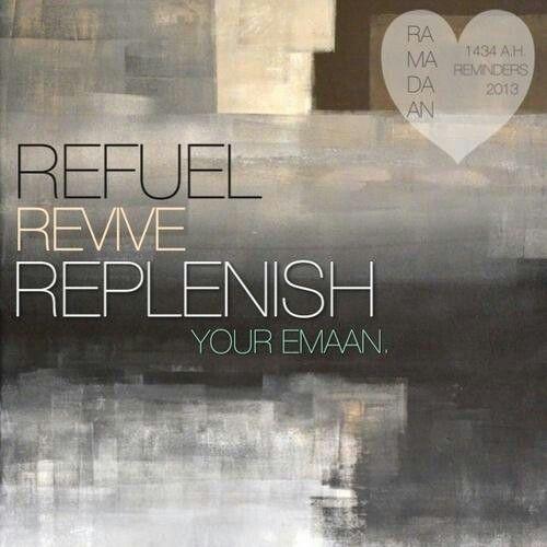 Refuel, revive, replenish....