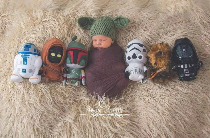 Star Wars themed baby picture