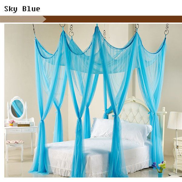 luxury princess bed netting canopy mosquito net twin queen king 10 colors - Multi Canopy Decor