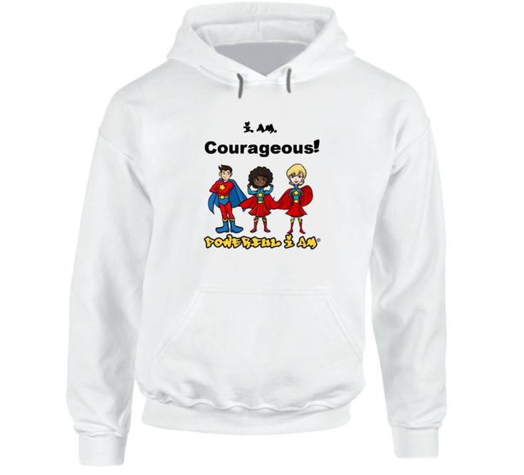 i AM Courageous White Hoodie  $35.00