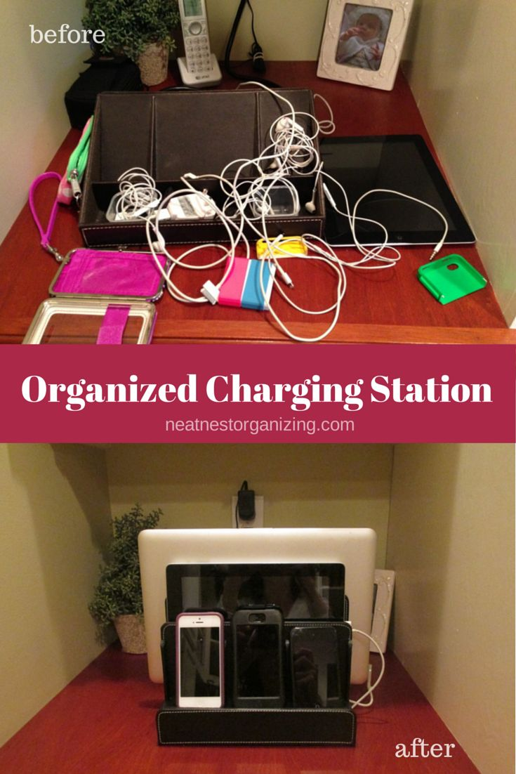Organized Charging Station Holds Up To 5 Electronic
