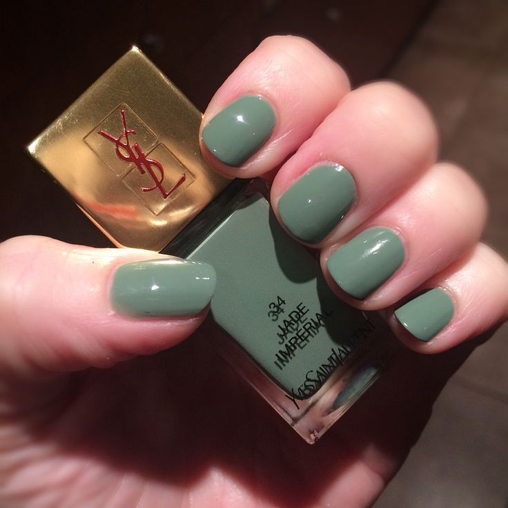 YSL Jade Imperial nail polish is a gorgeous dusty green - perfect for autumn #ysl #nailpolish #manicure