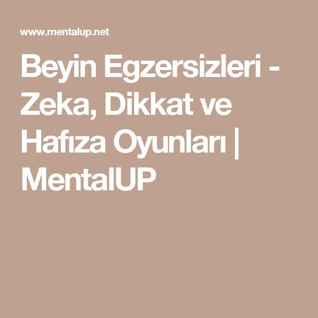 Beyin Egzersizleri - Zeka, Dikkat ve Hafıza Oyunları | MentalUP