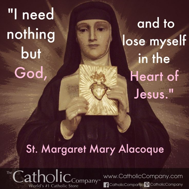St. Margaret Mary Alacoque spread devotion to the Sacred Heart of Jesus.