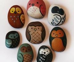 owls on rock simple